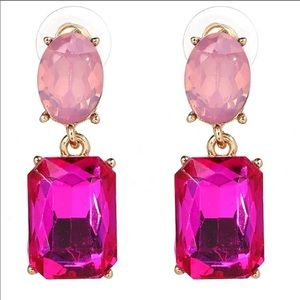 Beautiful New Pink Drop Earrings